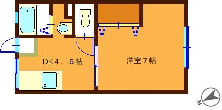 洗濯機置場は室内(DK)です♪