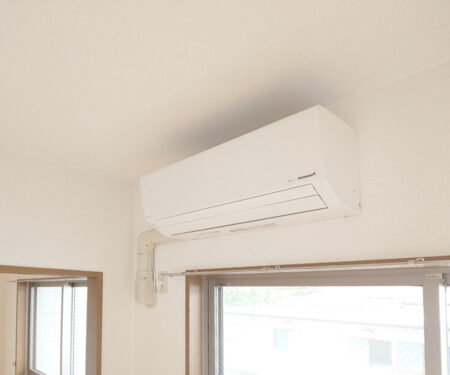エアコンは、DKへ設置♪